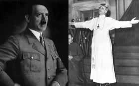 Pius XII przyjmuje hiszpańskich faszystów
