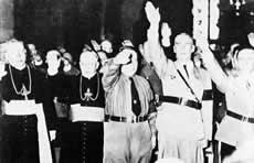 katolicko-faszystowskie pozdrowienie