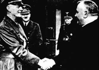 Tiso, Ribbentrop, Hitler